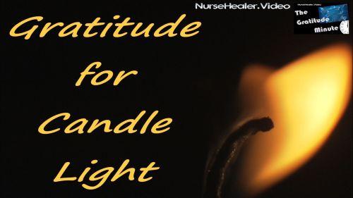 Gratitude Minute: Candle light