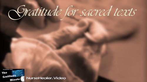 Gratitude Minute - Sacred Texts